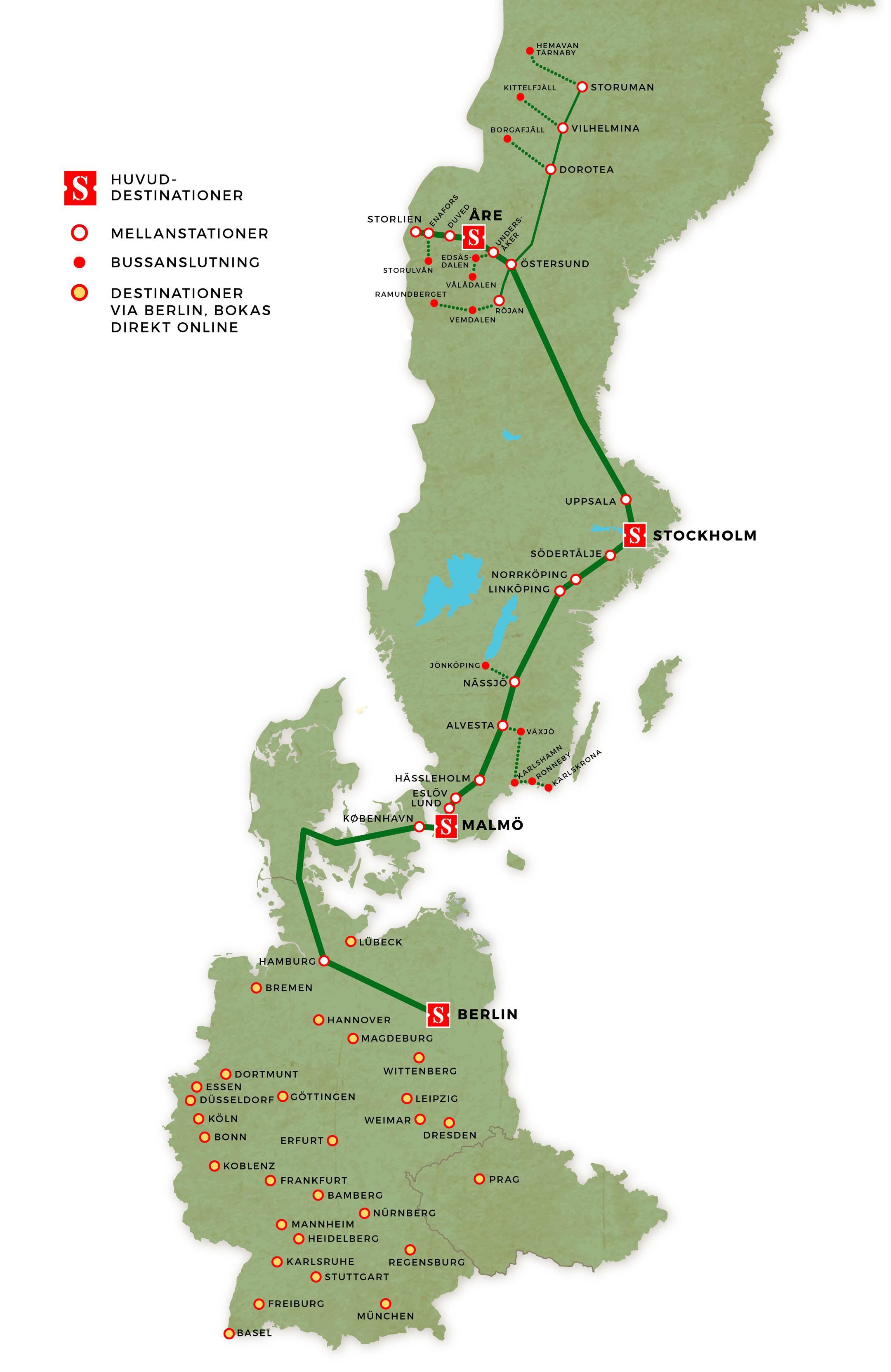 Avstånd Stockholm Malmö
